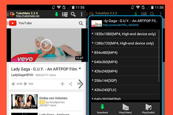 Descargar última versión de Tubemate para Android APK